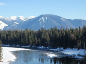 Middle Fork in Winter with Strawberry Mountain