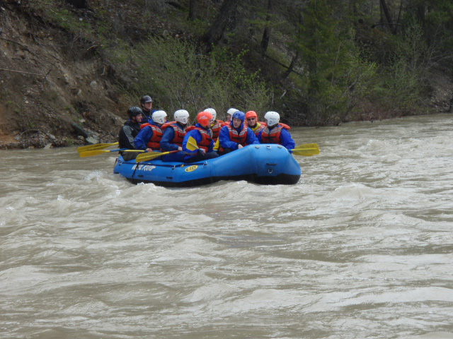 Guided whitewater trip in early summer